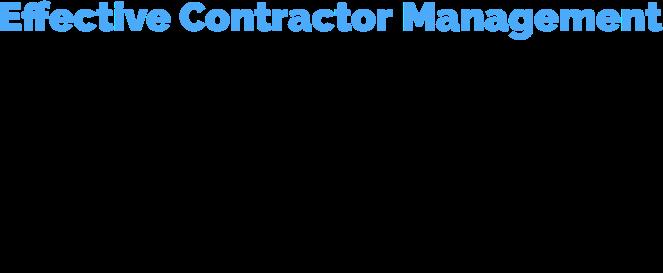 effective contractor management logo